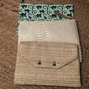 Lot of 3 Stella and Dot clutches